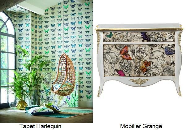 mobilier_grange tapet_harlequin