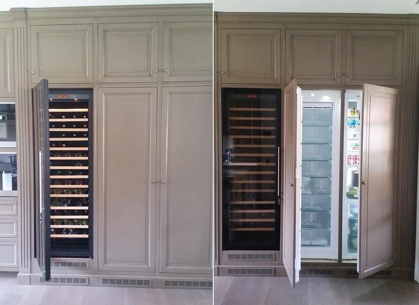 Detaliu bucatarie proiect la maison frigider vin