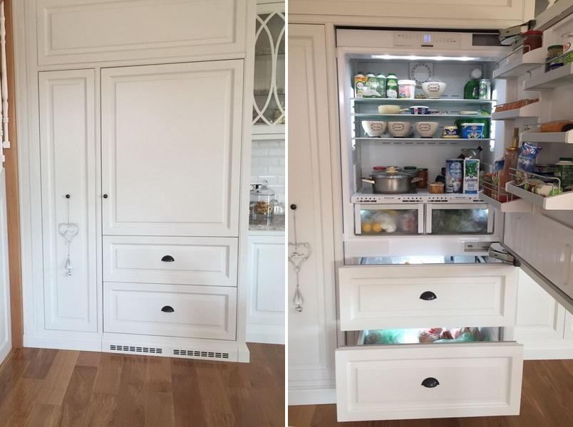 Detaliu frigider incorporabil proiect la maison