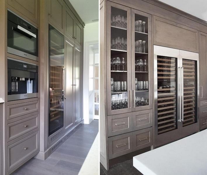 detalii bucatarie proiect la maison frigider vin