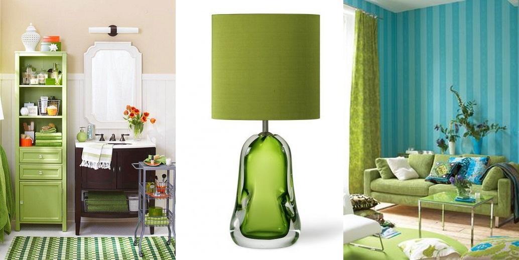Lampi si covoare in culoarea pantone a anului 2017, greenery, gasiti si la La Maison