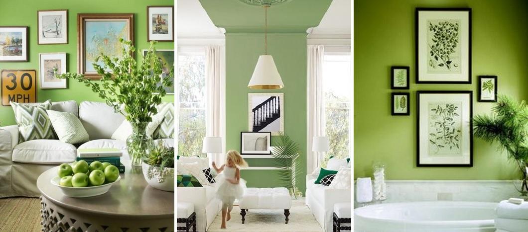 Vopsea in nuante greenery, culoarea anului 2017 de la pantone, La Maison