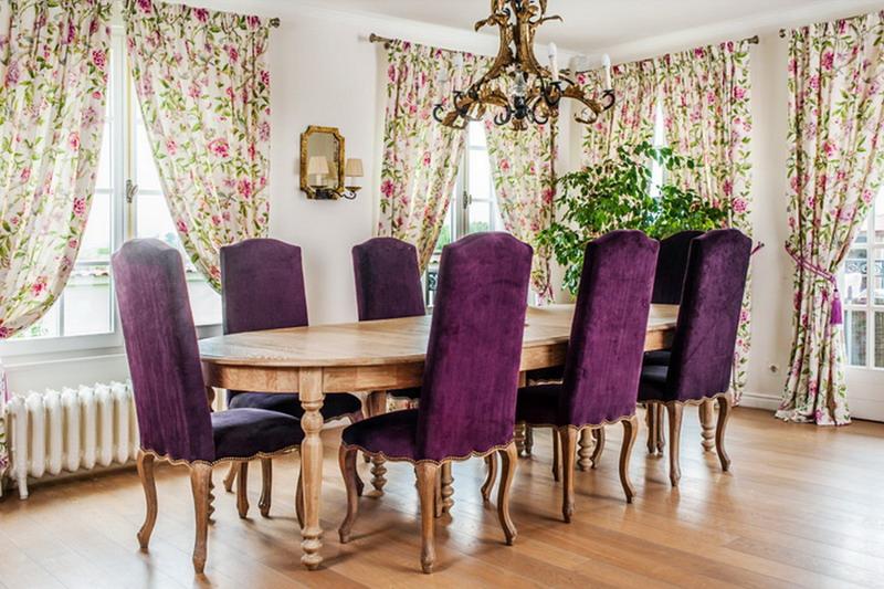 draperii proiect la maison scaune mov
