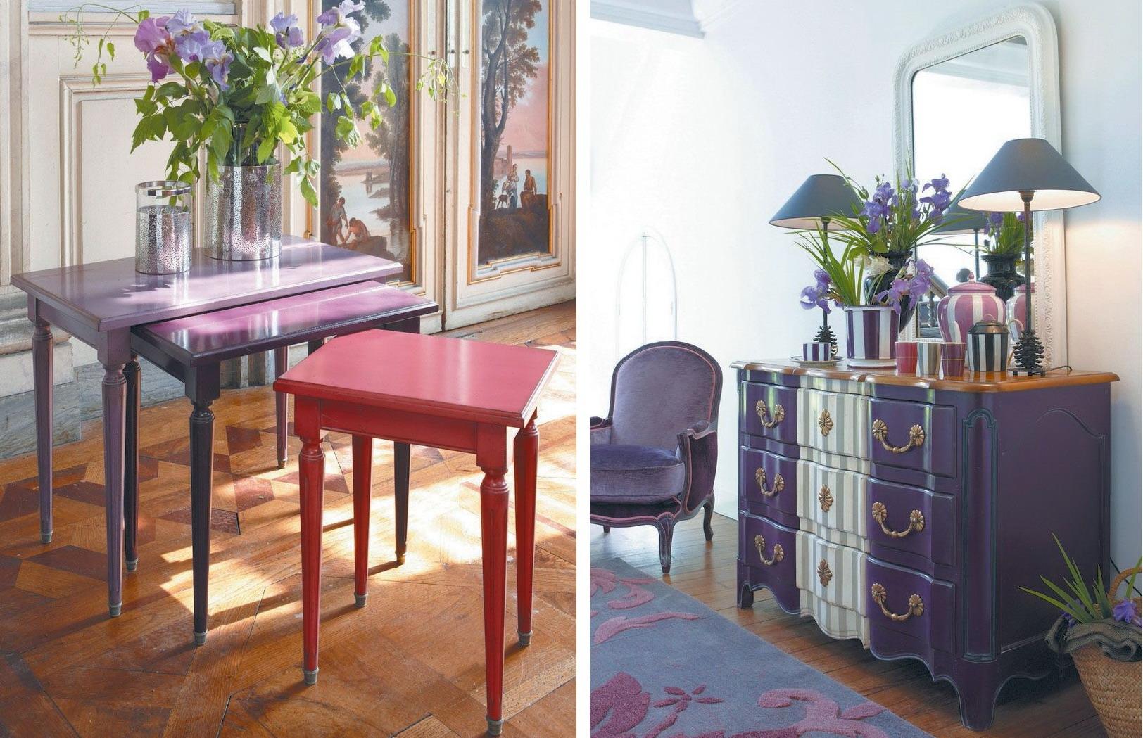 mobilier grange culoarea 2018 ultra violet la maison