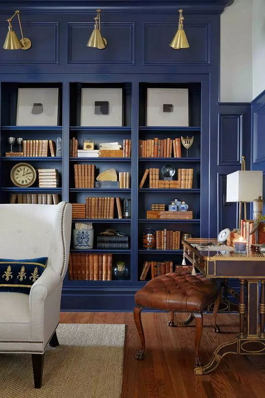 biblioteca pinterest albastra la maison