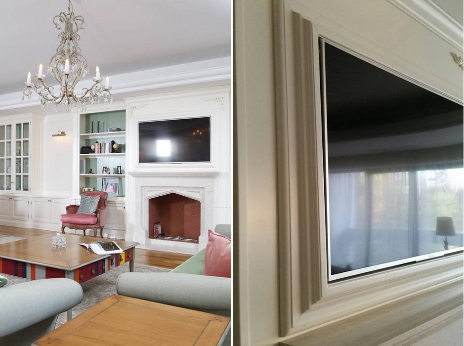 mobilier realizat la comanda ascunde televizor la maison