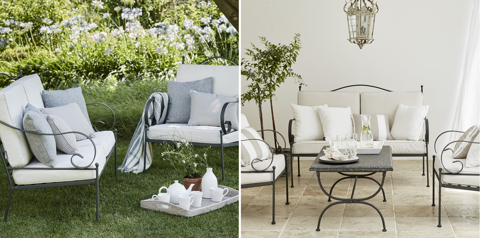 Amenajare terasa mobilier la maison stil romantic