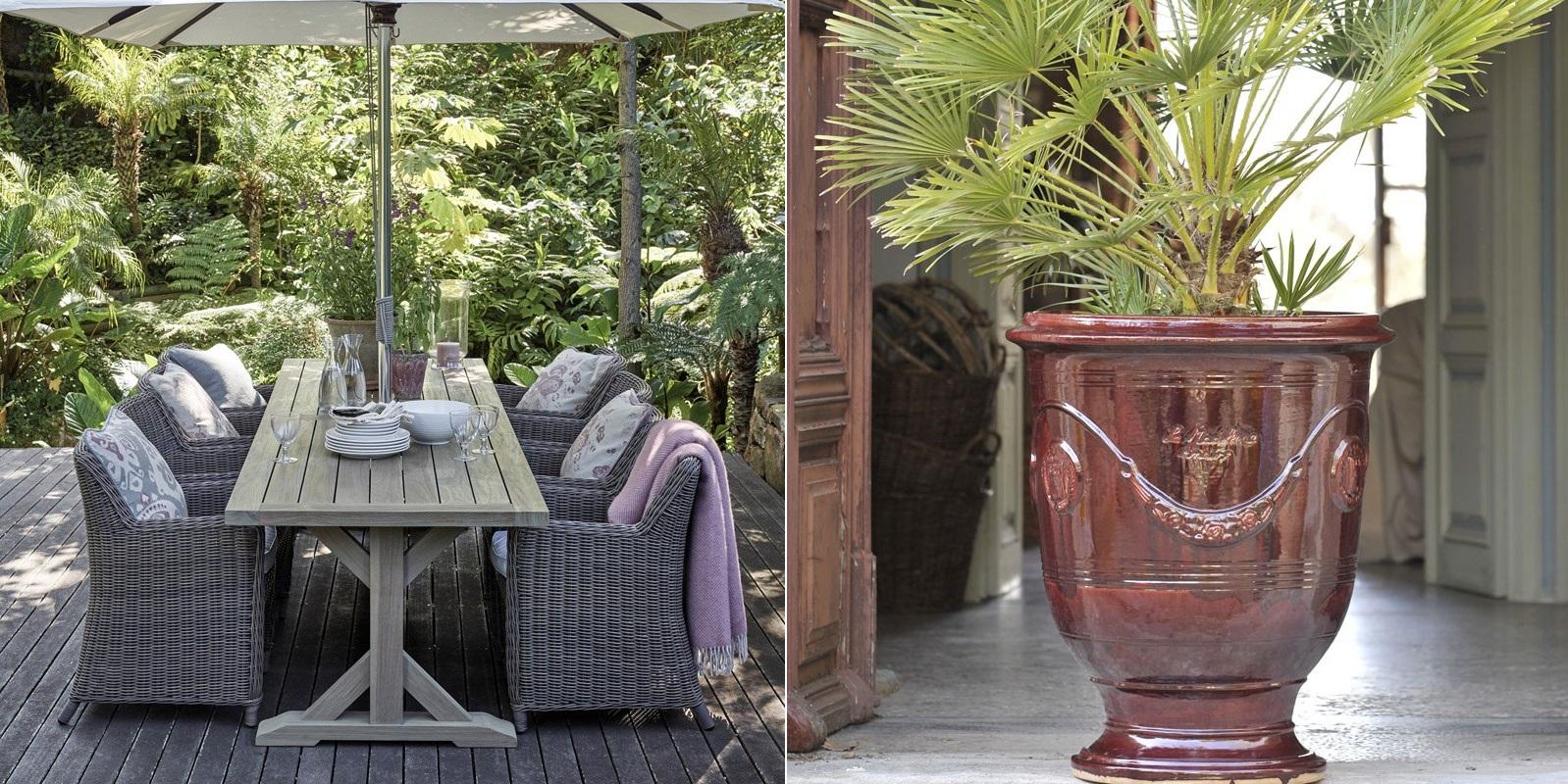 Amenajare terasa mobilier la maison stil tropical