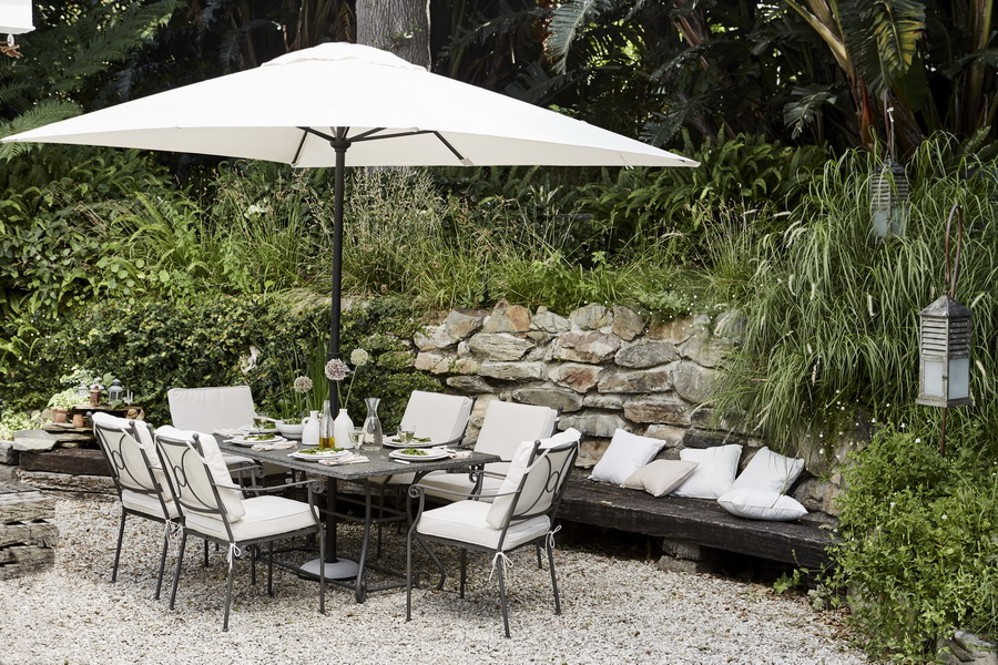 amenajare terasa mobilier romantic la maison
