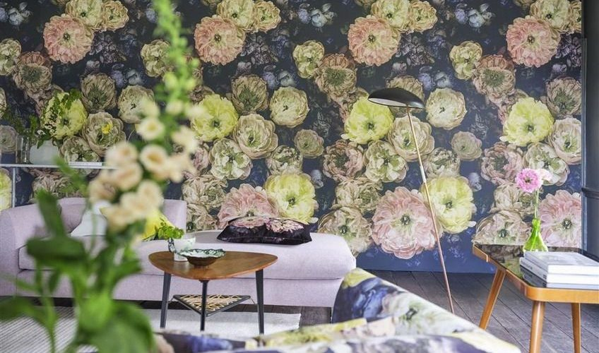 Tapet Designers Guild - La Boutique Online - Le poeme de fleurs midnight