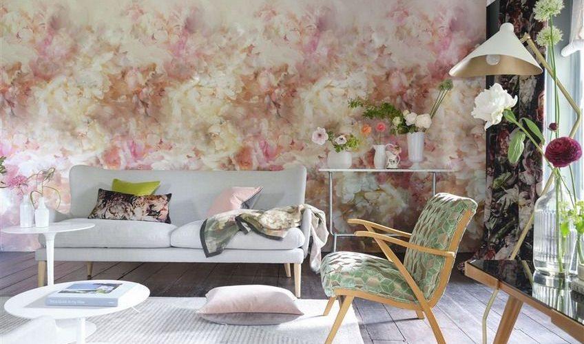 Tapet La Boutique Online - Fleur de nuit pale coral